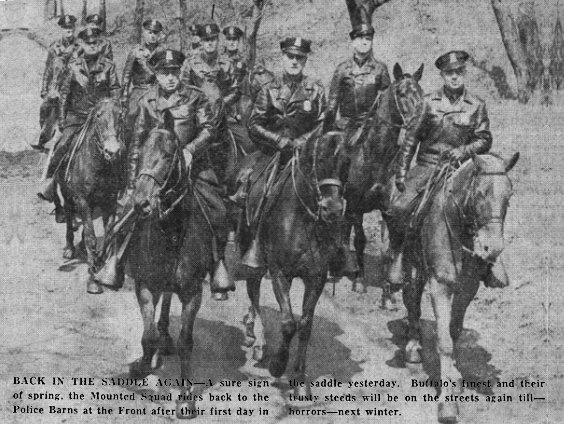 Buffalo Police Then And Now Mounted Squad Page 1